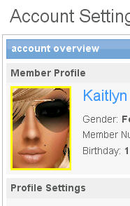 your imvu profile picture in the account web page