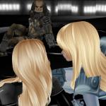 imvu girls with an imvu alien predator