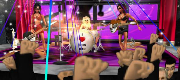 imvu rock stars playing great imvu music