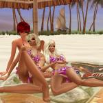sexy imvu girls on the beach