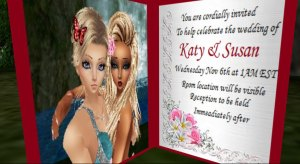 Katy and Susan imvu wedding invitation