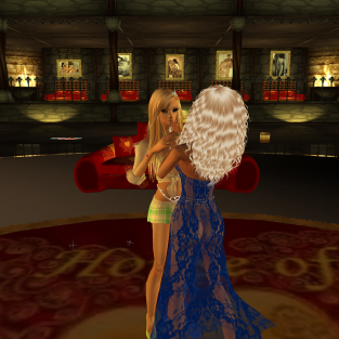 1Suzilyn dancing in the new version of our Lyn room with red furniture (4)