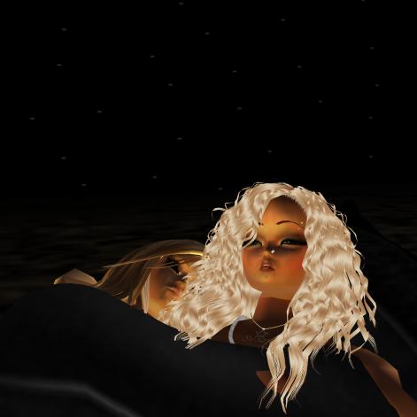 1Suzilyn sleeping and snuggling in lyn room bed