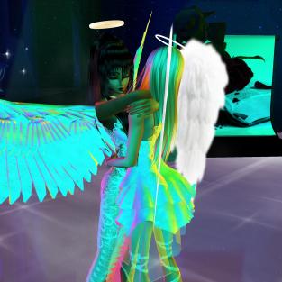 Allysonblackrose ArtisanBleueDoll dirtyroleplaygirl quidlyn colorful angels dancing in fashion club (54)