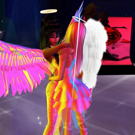 Allysonblackrose ArtisanBleueDoll dirtyroleplaygirl quidlyn colorful angels dancing in fashion club (56)