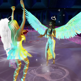 Allysonblackrose ArtisanBleueDoll dirtyroleplaygirl quidlyn colorful angels dancing in fashion club (60)