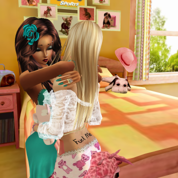 MistressSonyaSweet in girls room then her teal room when she came back cuddling and talking (13)