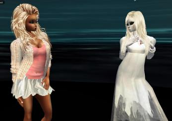 MistressSonyaSweet Susan caught me making a new ghost outfit and shwoed me her invitation for their wedding (1)