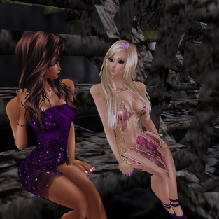 MistressSonyaSweet talking in Fairy Nights purple dresses milk face (3)