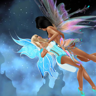 1Taylyn fairy flying in spooky castle room great pics and then after dancing in the Alley (21)