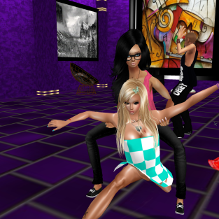 Taylor122012 quidlyn rebecca03921 joined GabrielleBleueDOLL Friskable GabrielaCortes StephanieLovesPinkxx Lucifherita Rod4k misc pants jeans flirting with Taylor dancing in purple club (8)