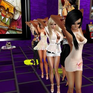StephanieLovesPinkxx Rod4k stephijxx joined quidlyn 1Taylyn Coraem ThePirate88 Misterysweetlove fun dancing in purple club (4)