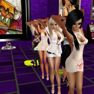 StephanieLovesPinkxx Rod4k stephijxx joined quidlyn 1Taylyn Coraem ThePirate88 Misterysweetlove fun dancing in purple club (4)