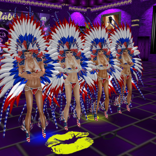 stephijxx GabrielleBleueDOLL 1Taylyn joined Coraem Allysonblackrose Friskable annaleedevane Rod4k red white and blue showgirls dinosaurs and fun in purple club (18)
