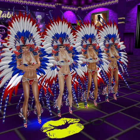 stephijxx GabrielleBleueDOLL 1Taylyn joined Coraem Allysonblackrose Friskable annaleedevane Rod4k red white and blue showgirls dinosaurs and fun in purple club (18)