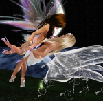 Fairy Love in the moonlight