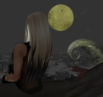 Kait waiting for Halloween in imvu