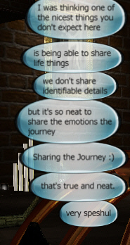 sharing the journey bubbles